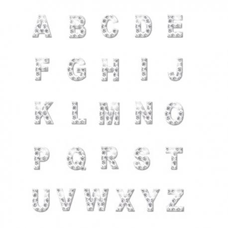 Lettres strass pour collier personnalisable