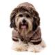 Doudoune pour chien marron