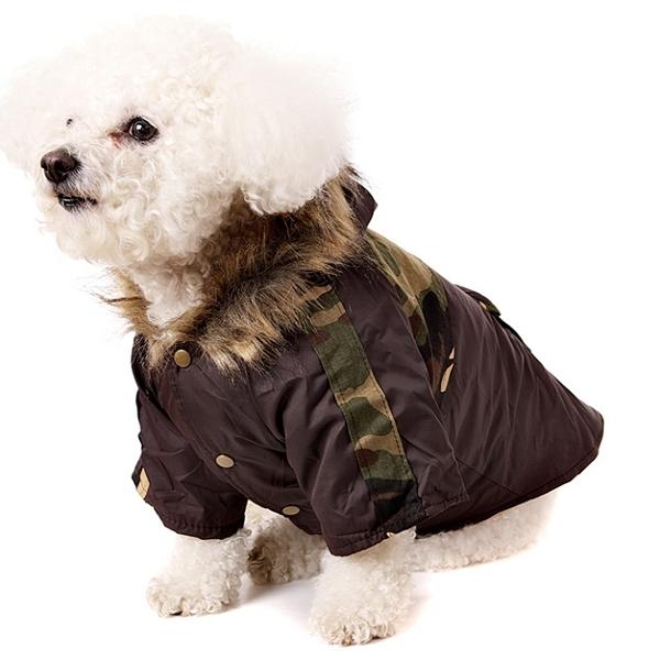 Manteau imperméable pour chien militaire Doudoune chien
