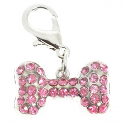 Pendentif pour chien rose strass