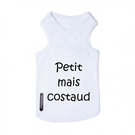 T-shirt pour chien blanc costaud