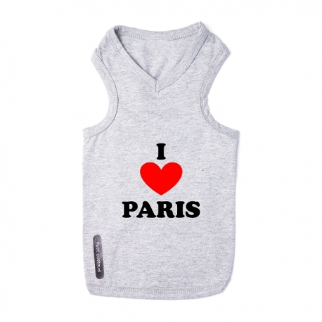 T-shirt pour chien I love Paris