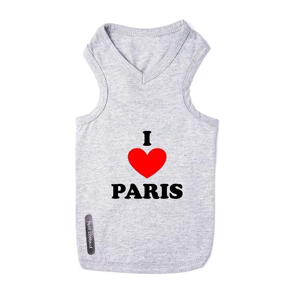 Vetement chien I love Paris - T-shirts chiens - Oh Pacha