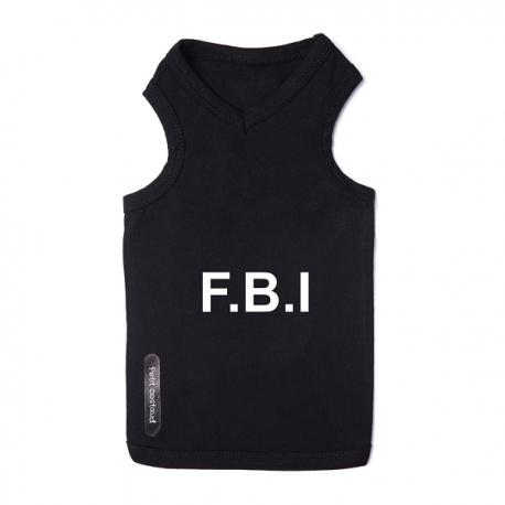 T-shirt pour chien FBI