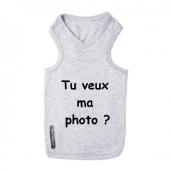 T-shirt pour chien tu veux ma photo ?