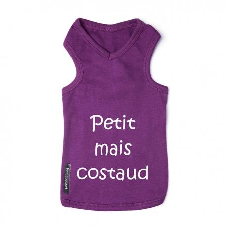 T-shirt pour chien Costaud mauve