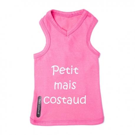 T-shirt pour chien Costaud rose