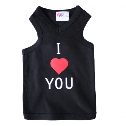 T-shirt pour chien I love you