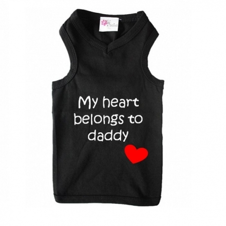 T-shirt pour chien belongs to daddy