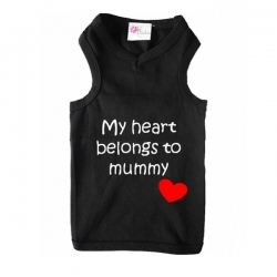 T-shirt pour chien belongs to mummy