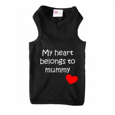 T-shirt pour chien belongs to mummy