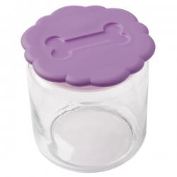 Pot à biscuits violet pour chien