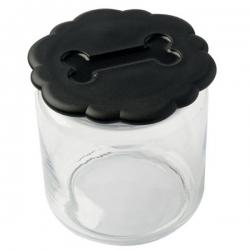 Pot à biscuits noir pour chien