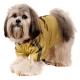 Imperméable pour chien coloris or