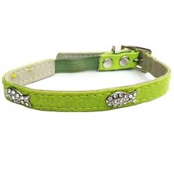 Collier pour chat de luxe vert