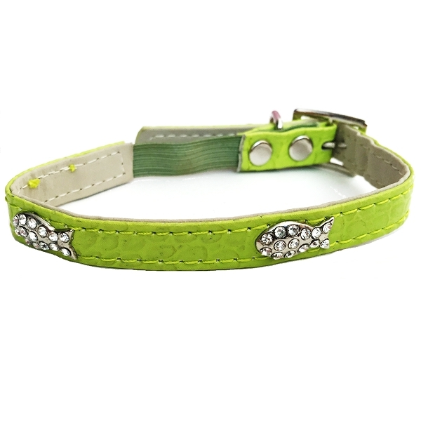 Collier strass vert pour chat - Oh Pacha