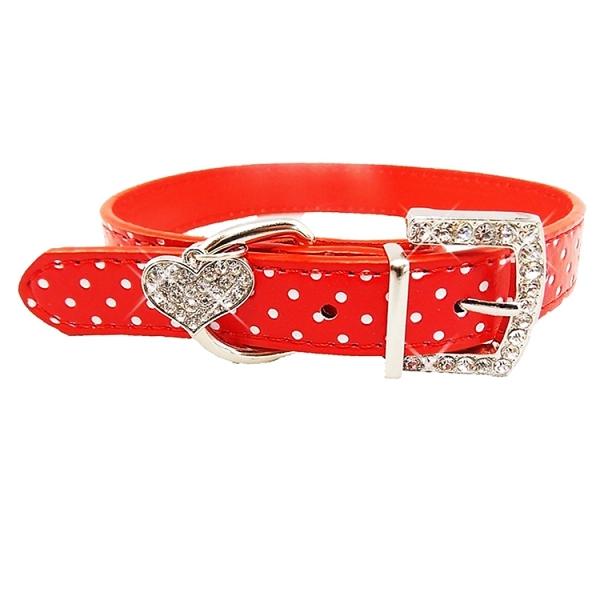 collier pour chien rouge pois collier pour chien oh. Black Bedroom Furniture Sets. Home Design Ideas
