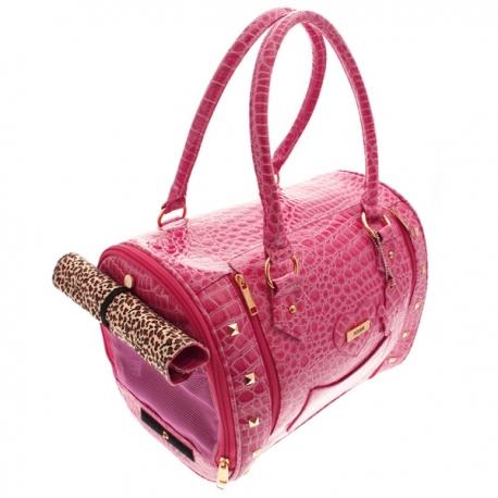 sac de transport chic chien coloris rose sacs pour chiens oh pacha. Black Bedroom Furniture Sets. Home Design Ideas