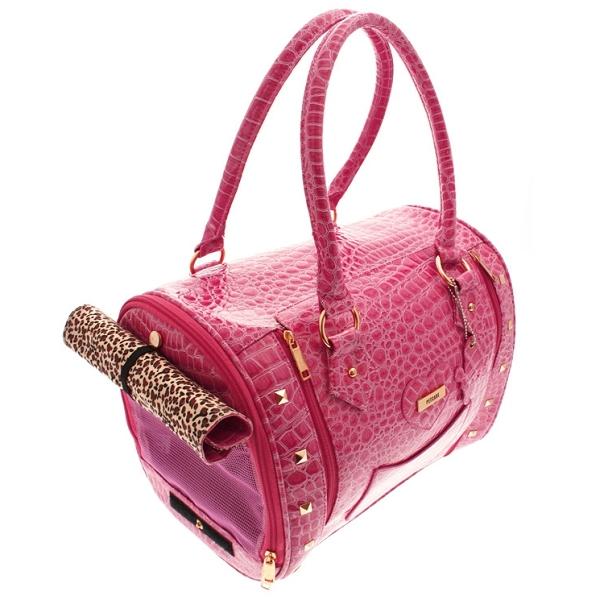 enfant recherche de véritables prix attractif Sac de transport chic chien coloris rose - Sacs pour chiens
