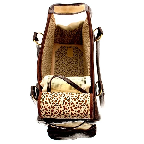 sac de transport luxe pour chien et chat coloris marron oh pacha. Black Bedroom Furniture Sets. Home Design Ideas