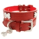 Collier bling bling rouge pour chien