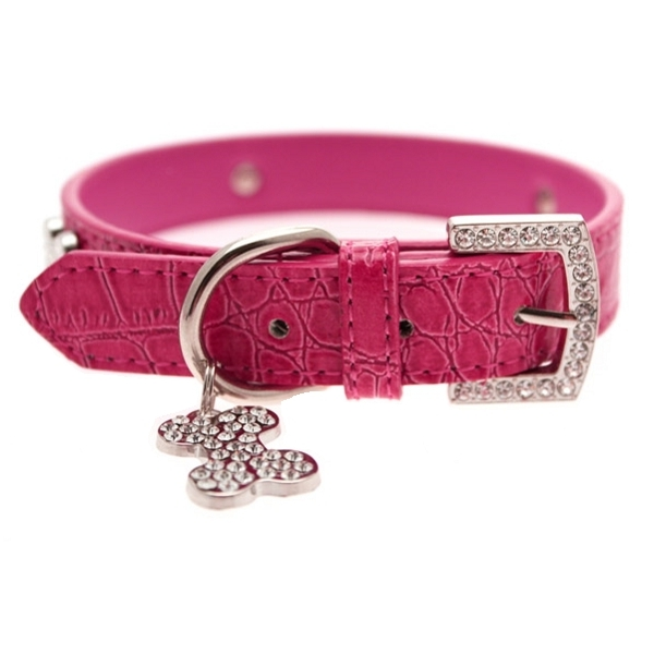 Collier rose bouledogue francais