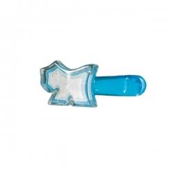 Barrette pour chien bleu