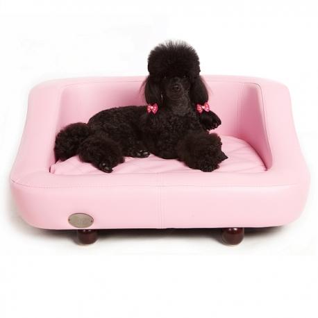 Canapé moderne pour chien baby rose
