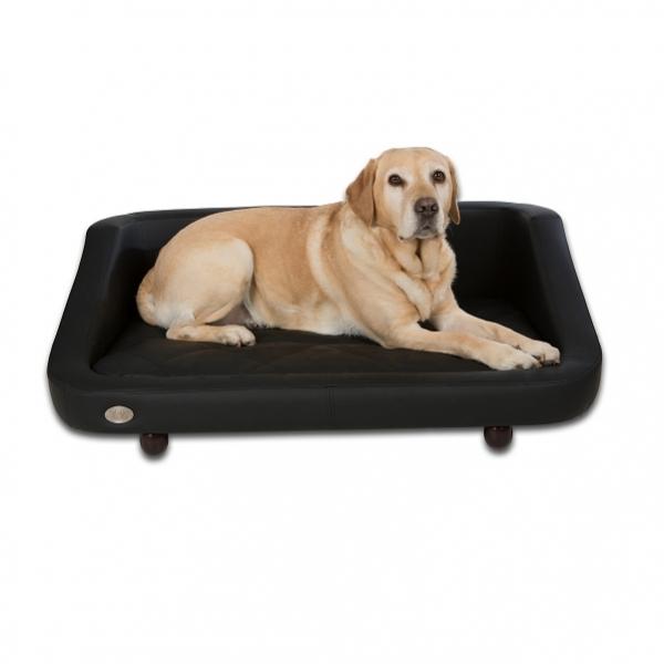 Canap noir moderne pour chien canap luxe pour chien for Canape pour chien