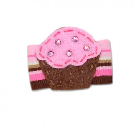 Barrette pour chien cupcake chic