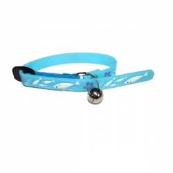 Collier fish blue