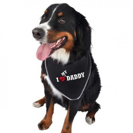 Bandana pour chien I love my Daddy