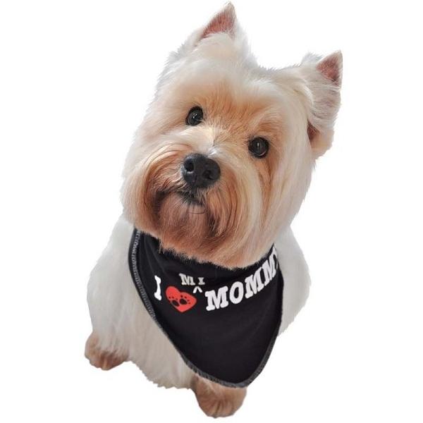 bandana pour chien noir i love mommy accessoires chiens oh pacha. Black Bedroom Furniture Sets. Home Design Ideas