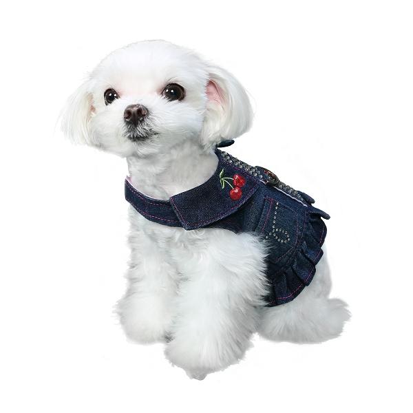 harnais pour chien et chiot en jean souple oh pacha. Black Bedroom Furniture Sets. Home Design Ideas