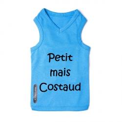 T-shirt pour chien bleu costaud