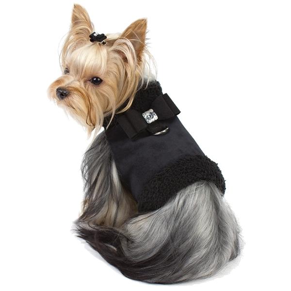 harnais et manteau pour chien et chiot en ultra suede oh pacha. Black Bedroom Furniture Sets. Home Design Ideas