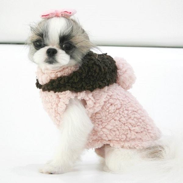 manteau pour chien rose et marron avec capuche manteau pour petit chien oh pacha. Black Bedroom Furniture Sets. Home Design Ideas