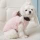 Manteau pour chien flocon rose