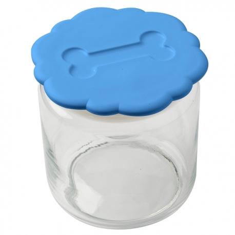 Pot à biscuits bleu pour chien