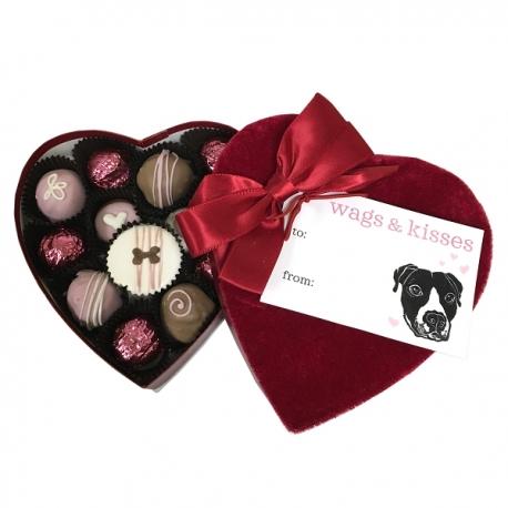 Coffret de biscuits pour chien Saint-Valentin