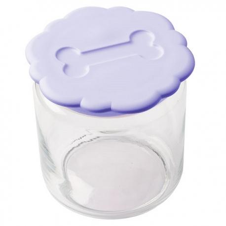 Pot à biscuits lilas pour chien