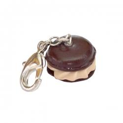 Pendentif pour chien & chat macaron choco - noisette