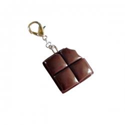 Pendentif pour chien et chat carré de chocolat