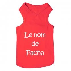 T-shirt pour chien personnalisable rouge
