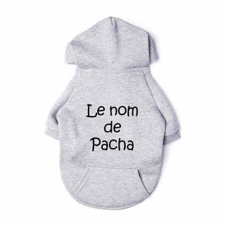 Sweat pour chat personnalisable gris