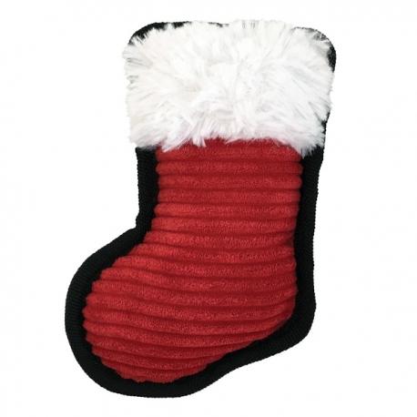 Jouet pour chien chaussette du Père Noël