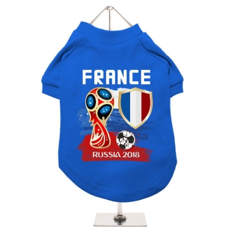 maillot de football pour chien coupe du monde 2018 t. Black Bedroom Furniture Sets. Home Design Ideas