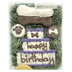 Coffret de biscuits pour chien anniversaire
