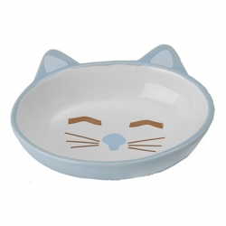 Gamelle pour chat Kitty bleu