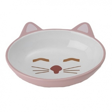 Gamelle pour chat Kitty rose